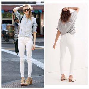 "MADEWELL 9"" High Riser Skinny Skinny White Jeans"